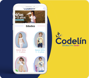 Consultoría para la implementación de su canal de ventas en www.codelin.com. Posteriormente se llevó a cabo implementación de la<br>tienda virtual.